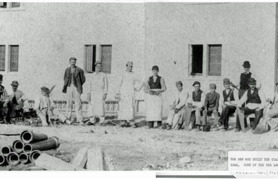 Building the Coastguard Station at Bay Hill 1884