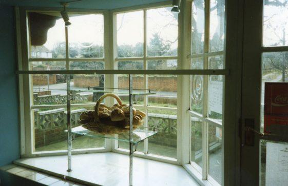 Front window of Watson's Baker's shop, Kingsdown Road. March 1995
