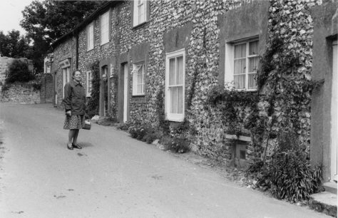 Chapel Cottages, Chapel Lane, and Mr and Mrs Gower. c1970s