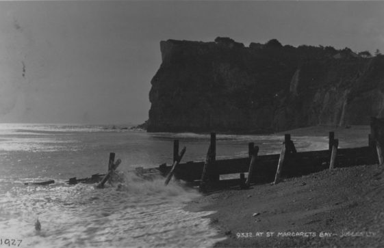 Ness Point from the beach. c1926