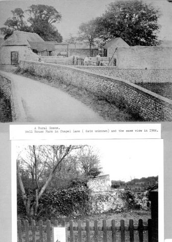 Well House Farm, Chapel Lane, before and after demolition