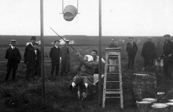 Water event at the St Margaret's Sports Day. 1910