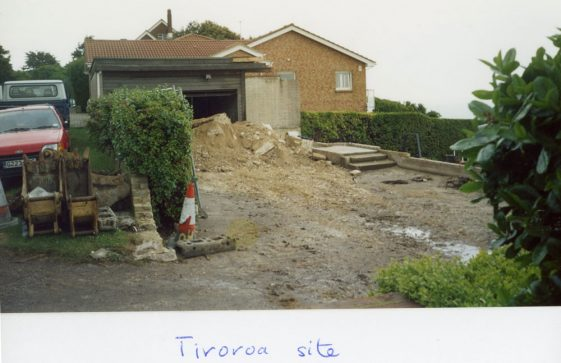 Building Works on the site of Tiroroa, Granville Road.  31 May 2005