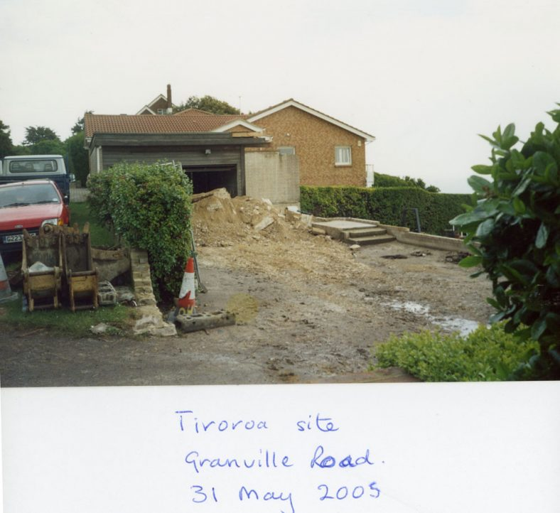 Building Works on the site of 'Tiroroa', Granville Road.  31 May 2005