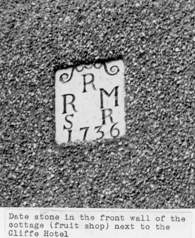 Date stone on Acardia Cottage High Street