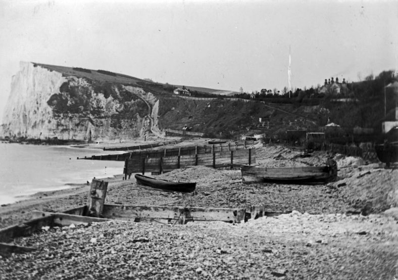 Ness Point from the beach. 1890's