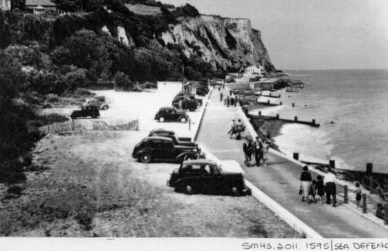 The promenade and new sea defence wall St Margaret's Bay