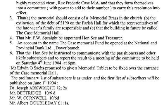 The Case Memorial Fund 1904