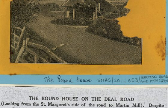 The Round House at the junction of Station Road and the Dover/Deal Road
