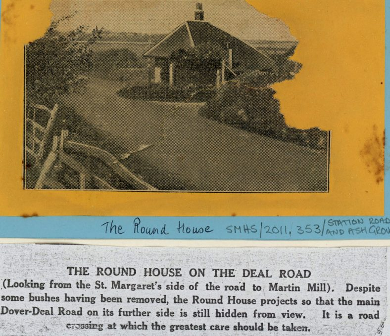 The Round House at the junction of Station Road and the Dover Deal Road