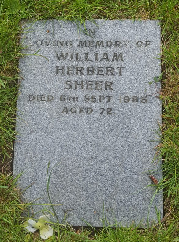Gravestone of SHEER William Herbert 1985   Dawn Sedgwick
