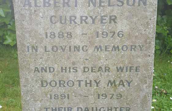 Gravestone of CURRYER Albert Nelson 1976; CURRYER Dorothy May 1979; WEBSTER Betty D 2002