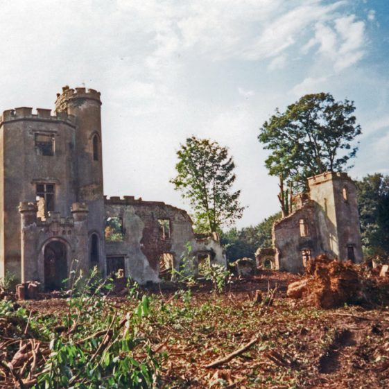 Oxney Court in ruins. 1994