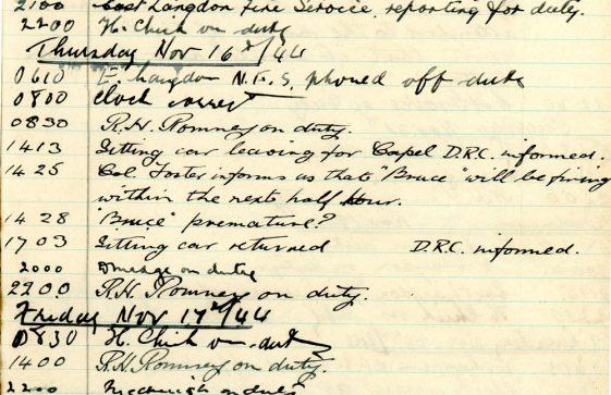St Margaret's ARP (Air Raid Precautions) Log. Volume 9. 10 August 1944 - 30 June 1945. Pages 68-77