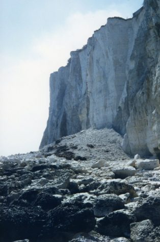 Cliff fall at Ness Point. 20 April 1986