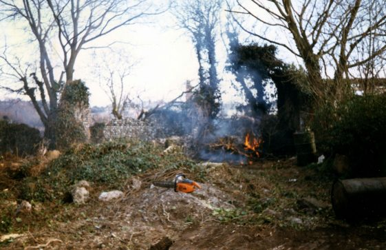 Rosewood, Droveway Gardens under construction. 1986