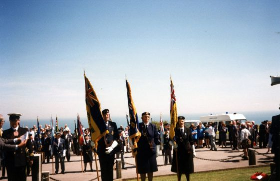 A series of photographs taken of the 1996 service at the Dover Patrol Memorial