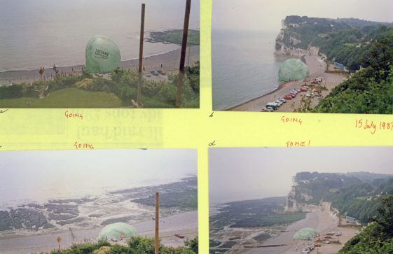 Failed advertising stunt in St Margaret's Bay. 15th July 1987