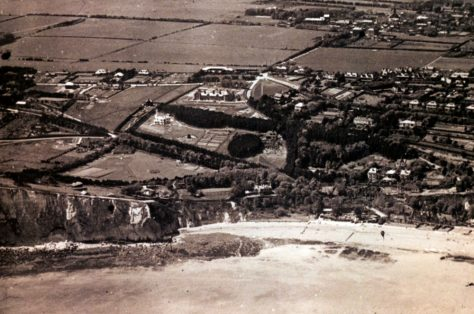 Aerial view of St Margaret's looking inland from the Bay. pre-1933