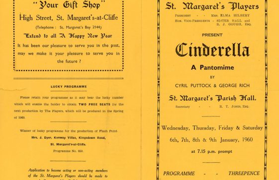 Programme for St Margaret's Players pantomime 'Cinderella'. 1960