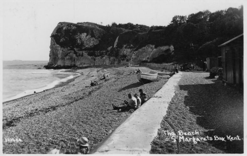 Ness Point from the beach. postmark 1938