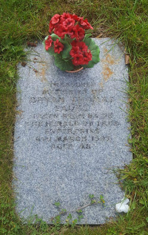 Gravestone of EADES Bryan Thomas 1987 | Dawn Sedgwick
