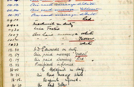 St Margaret's ARP (Air Raid Precautions) Log. Volume 3. 2 November 1940 - 17 February 1941. Pages 80-89