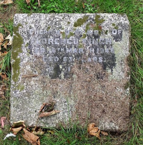 Gravestone of FINCH Florence 1948