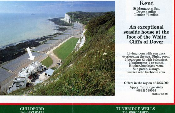 'Country Life' advert for a Bay house sale. 1991