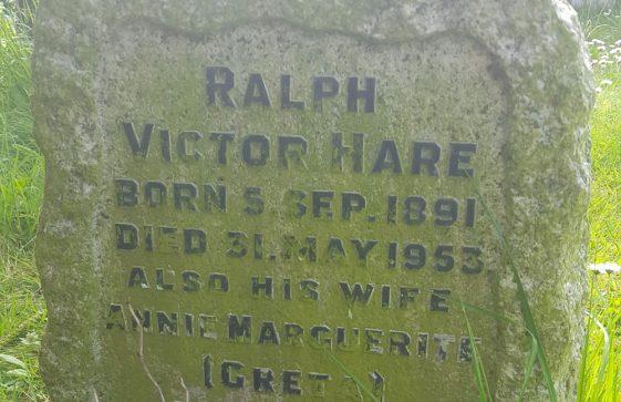 Gravestone of HARE Ralph Victor 1953; HARE Annie Marguerite 1977