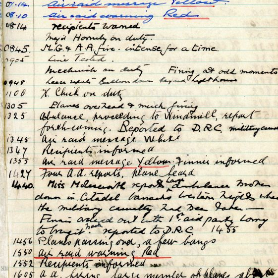 St Margaret's ARP (Air Raid Precautions) Log. Volume 2. 24 July 1940 - 2 November 1940. Pages 111-117