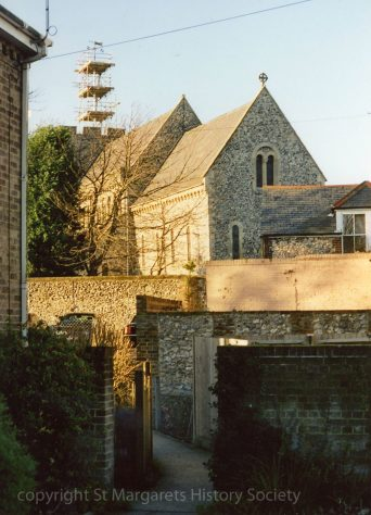 St Margaret's Church from Parsonage footpath. c2005