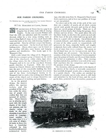 St Margaret's Church, an article from the 'Church Monthly' by the Rev F Case. 1898 [?]