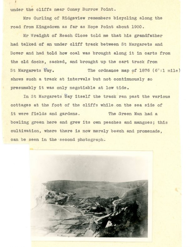 History of the Undercliff Road in St Margaret's Bay