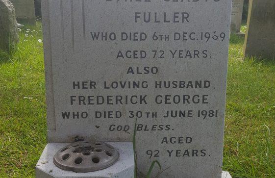 Gravestone of FULLER Ethel Gladys 1969; FULLER Frederick George 1981