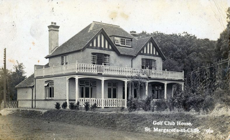 The Golf Club House at St Margaret's at Cliffe, demolished 1960s.