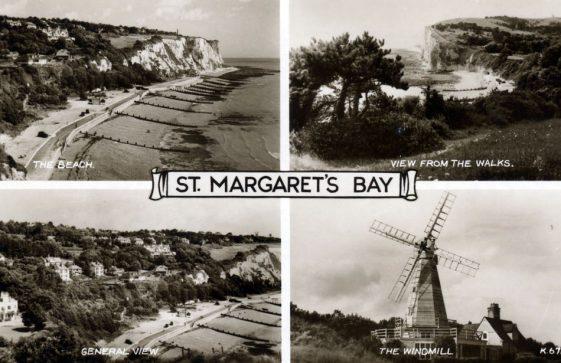 Multiple view postcard of St Margaret's Bay