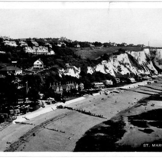 St Margaret's Bay from Ness Point. postmark 1930