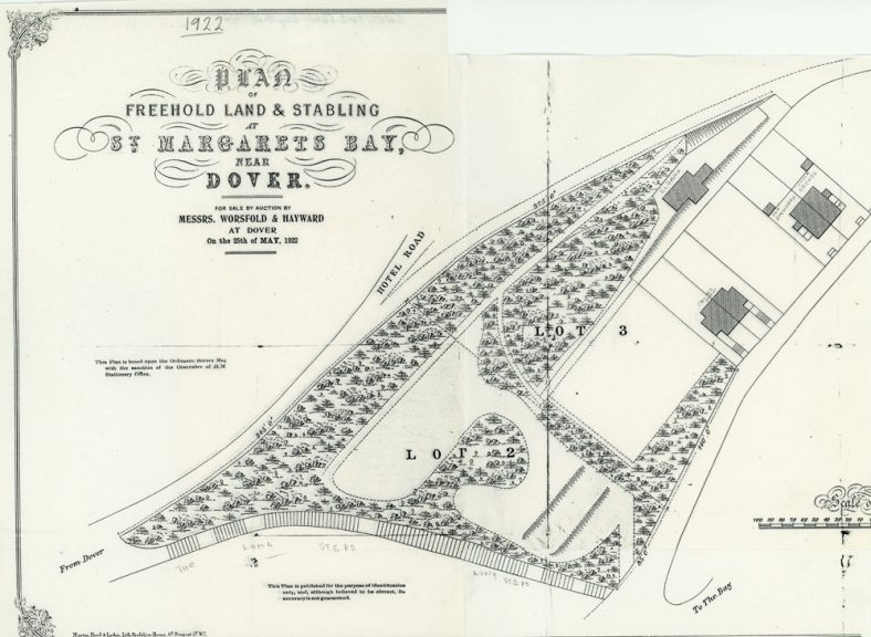 Plan of freehold land and stabling for auction at Bay Hill. 1922