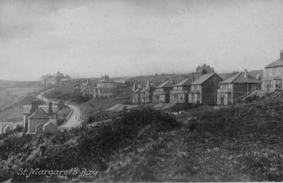 Bay Hill and new housing development. c 1898