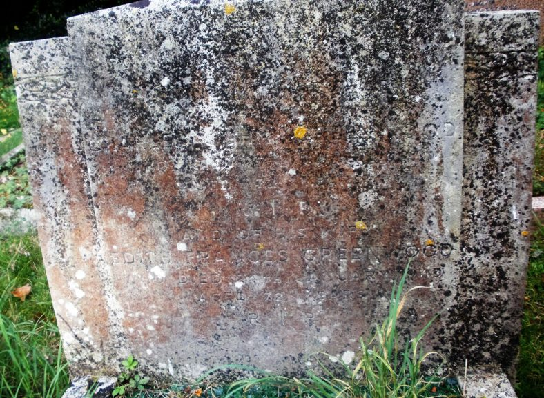 Gravestone of GREENWOOD Charles John 1957; GREENWOOD Edith Frances 1963; GREENWOOD Tony 1979 | Dawn Sedgwick