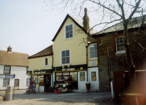 Properties at the lower end of Well Lane in 2002