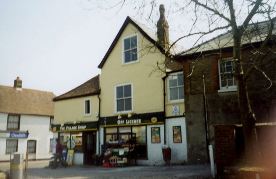 Shops at the lower end of Well Lane in 2002