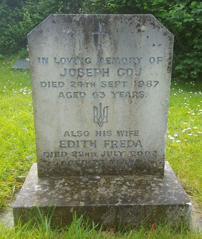 Gravestone of GOJ Joseph Osyp 1987; GOJ Edith Freda 2002 | Dawn Sedgwick