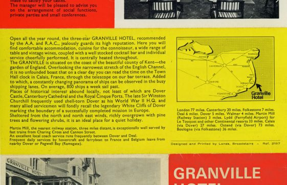 Granville Hotel, Hotel Road: Advertising leaflet. 1950/60