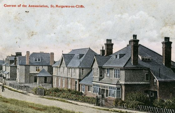 Postcard showing the Convent of the Annunciation in The Droveway, sent to Mrs Newman. postmarked 30 October 1906
