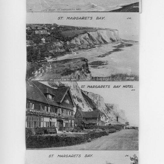 Souvenier postcard of St Margaret's Bay and Area. c1920s
