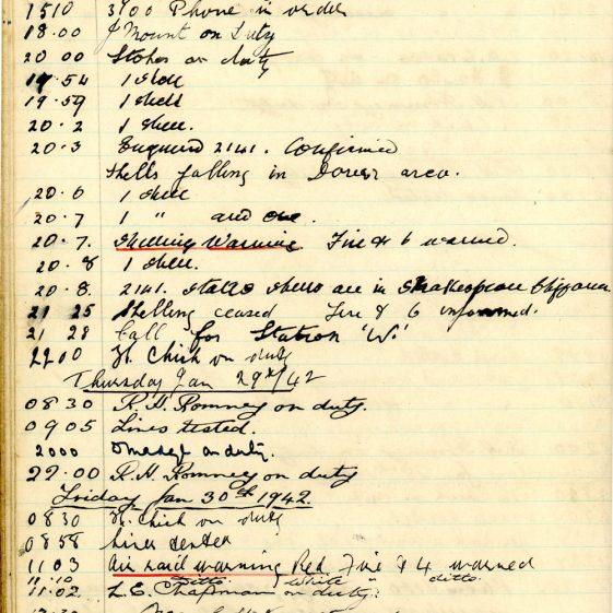 St Margaret's ARP (Air Raid Precautions) Log. Volume 5. 25 September 1941 - 17 July 1942. pages 58 - 67.