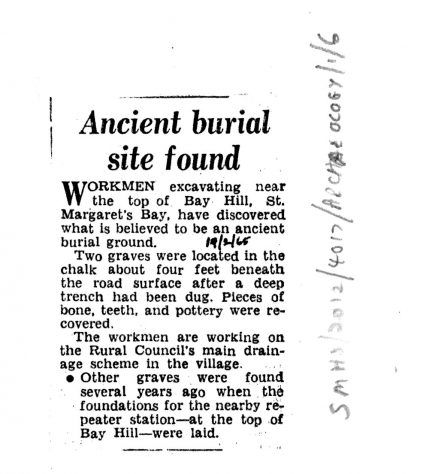 Excavations and archaeological finds in St Margaret's in 1934 and 1965