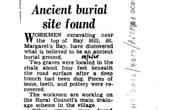 Press cuttings relating to excavations and archaeological finds in St Margaret's in 1934 and 1965